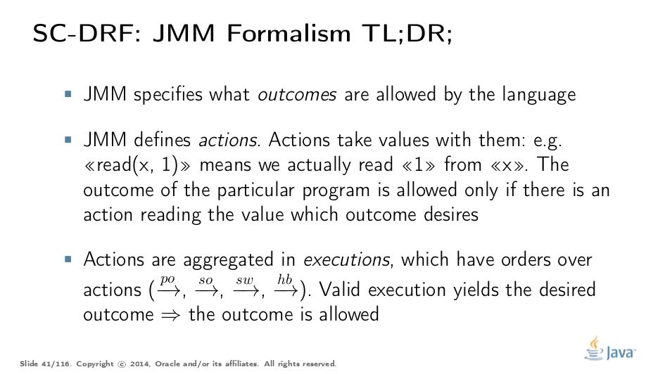 Java Memory Model Pragmatics (transcript)